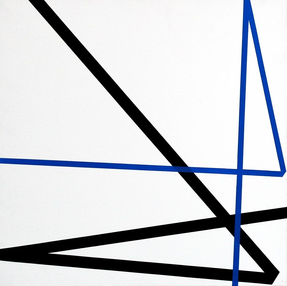 Vera Molnar, Double Signe Sans Signification, Acryl auf Leinwand, 2005