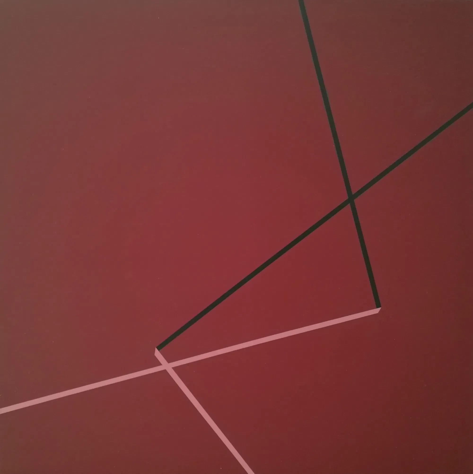 Vera Molnar, Deux Angles Droits, Acryl auf Leinwand, 100 x 100 cm, 2006