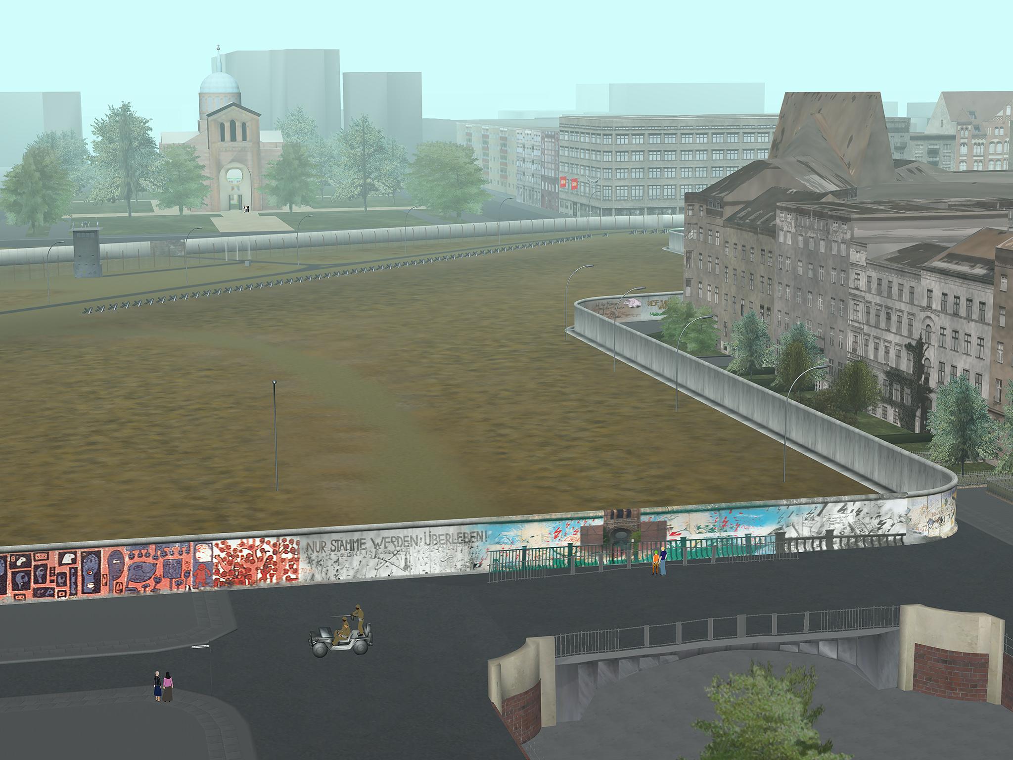 T + T (TAMIKO THIEL und TERESA REUTER): Virtuelle Mauer/ReConstructing the Wall